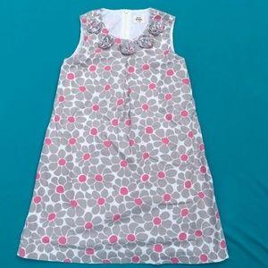 Mini Boden Floral Print Shift Dress Size 7-8 Y